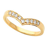 9-Stone V-Shaped Accented Fashion Ring Mounting