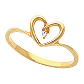 Heart Shaped Teen Ring for Diamonds