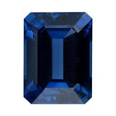 Emerald/Octagon Genuine Blue Sapphire (Black Box)