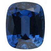 Antique Cushion Genuine Blue Sapphire (Black Box)
