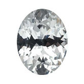 Oval Genuine White Sapphire (Black Box)
