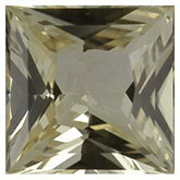 Square Genuine Yellow Sapphire (Black Box)