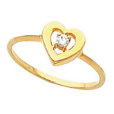 Heart-Shaped Teen Ring for Diamonds