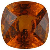 Antique Square Genuine Spessartite Garnet (Black Box)