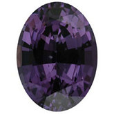 Oval Genuine Purple Spinel (Black Box Matched Sets)
