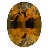 Oval Genuine Golden Tourmaline (Black Box)