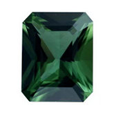 Emerald/Octagon Genuine Green (Chrome) Tourmaline (Black Box)