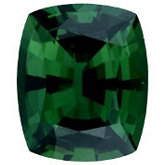 Antique Cushion Genuine Green (Chrome) Tourmaline (Black Box)