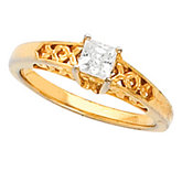 Solitaire Ring Mounting for Square Stone