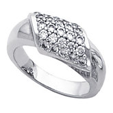Fashion Ring for Pavé Set Diamonds