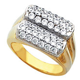 Multi-Row Ring for Pavé Diamonds