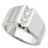 3-Stone Fashion Ring for Square or Princess-Cut Stones