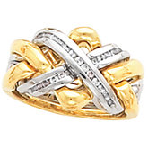 Ladies or Gents Puzzle Ring Wedding Band Mounting