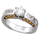 Cathedral Engagement  Base Ring Mounting & Band