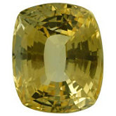 Antique Cushion Genuine Yellow Sapphire (Black Box)