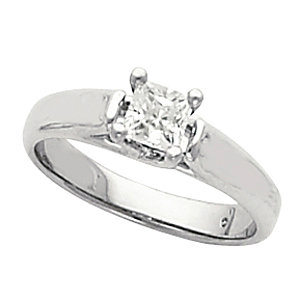 Diamond Solitaire Woven Engagement Ring