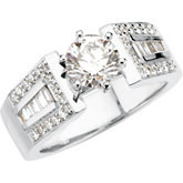 Cathedral Engagement Base Ring Mounting