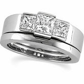 3-Stone Engagement Ring Mounting or Band