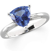 Scroll Setting® Design Ring Mounting for Trillion Gemstone Solitaire