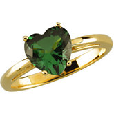 Scroll Setting® Design Ring Mounting for Heart Shape Gemstone Solitaire