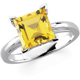 Scroll Setting® Design Ring Mounting for Princess Gemstone Solitaire