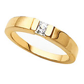Channel Set Princess Solitaire Ring Mounting