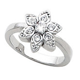 Flower Design Ring Mounting