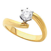 Solitaire Engagement Base Ring Mounting