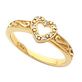 Heart Shape Ring Mounting