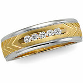 1/5 ct tw Two Tone Diamond Duo Band