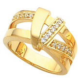 Double Band Fashion Ring Mounting