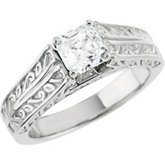 Cathedral Style Engagement Base Ring Mounting