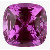 Antique Square Genuine Pink Sapphire (Black Box)