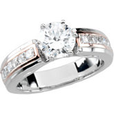 Two Tone Accented Engagement Base or Band Mounting