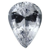 Pear Genuine White Sapphire (Black Box)