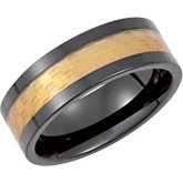 Black Ceramic Couture™ Band with Gold Resin
