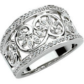 1/3 ct tw Etruscan Inspired Anniversary Band