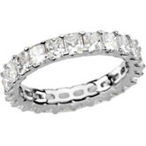 Eternity Band Ring Mounting for Radiant Cut Diamonds