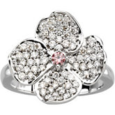 Floral Ring for Diamonds