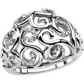 Scroll Fashion Ring Mounting