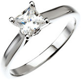 Cathedral-Style Solitaire Semi-Mount Engagement Ring