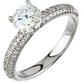 Diamond Engagement Ring or Semi-Mount & Matching Band