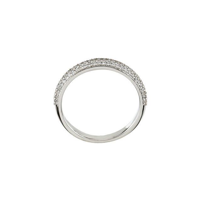14K White 3/8 CTW Diamond Matching Band