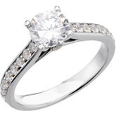 Accented Engagement Ring or Matching Band