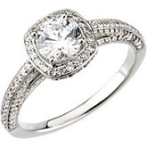 Halo-Style Engagement Ring or Band Mounting