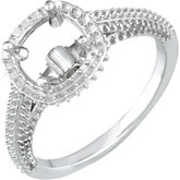 Halo-Styled Engagement Ring or Band Mounting