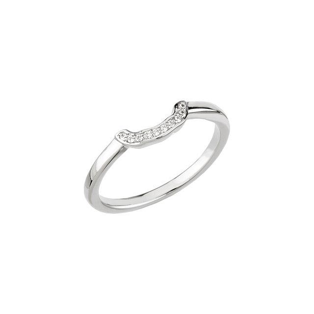 14K White .05 CTW Diamond Halo-Style Engagement Ring or Matching Band