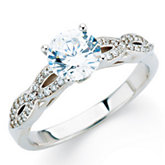 Diamond Infinity-Inspired Engagement Ring or Band