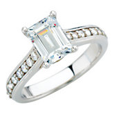 Cathedral-Style Engagement Ring Mounting