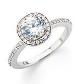 Halo-Stlye Engagement Ring or Matching Band